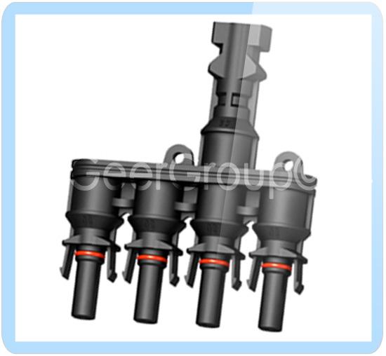 MC4 Stecker 1-1 2-1 3-1 4-1 5-1 Paar Verzweigungsstecker Solar Y T Stecker